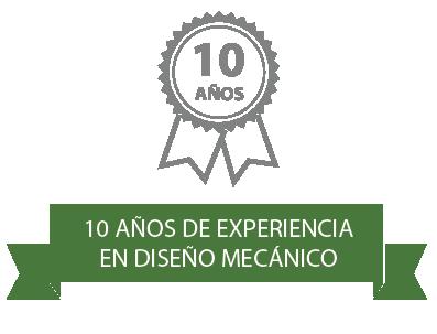 10 Años de Experiencia en Diseño Mecánico
